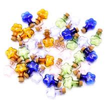 2ml Small Mini Glass Bottles Jars with Cork Stoppers.Wishing bottle drifting bottle wedding party DIY Etc. (M-20Pcs)