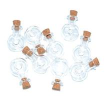 2ml Small Mini Glass Bottles Jars with Cork Stoppers.Wishing bottle drifting bottle wedding party DIY Etc. (C-20Pcs)