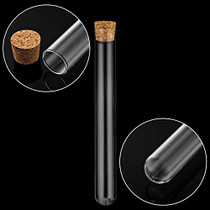 12Pcs 25×200mm(80ml) Glass Test Tubes with Cork Stoppers|1 Rack of Acrylic Material