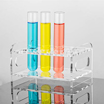24Pcs 25×150mm(50ml) Glass Test Tubes with Cork Stoppers|2 Rack of Acrylic Material