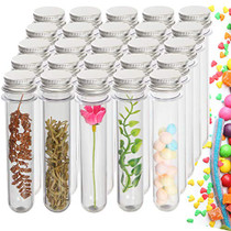 60Pack Plastic Test Tubes with Caps, 45ML Clear Bath Salt Tubes Gumball Candy Tubes, Tube Container Vials for Scientific Experiments, Party Favors, Decorate The House, Candy Storage