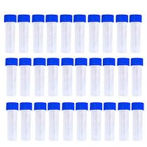 Twdrer 50PCS 5ml Plastic Graduated Vial Tube with Screw Caps,Small Test Sample Bottles Tubes Container with Lid