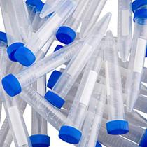 100Pcs-15ml Plastic Centrifuge Tubes,Leak-Proof Sterile PP Conical Centrifuge Tube, Non- Pyrogenic, DN/RNase Free | 2 Test Tube Racks