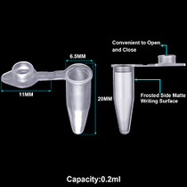 0.2ml,0.5ml,1.5ml Polypropylene Graduated Microcentrifuge Tubes with Snap Cap,Natural(300 of Each Capacity)