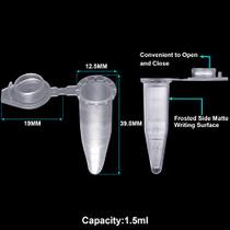 500Pcs 1.5ml Polypropylene Graduated Microcentrifuge Tubes with Snap Cap,Natural | 4 Assorted PCR Tube Racks, 60-Well