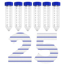 50ml Conical Centrifuge Tubes, Membrane Solutions Centrifuge Tubes Sterile PP Conical Tube, Non- Pyrogenic, DN/RNase Free, Pack of 25