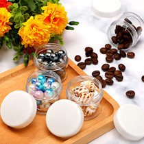 20 Pieces Round Pot Jars Plastic Cosmetic Containers Set with Lid for Liquid Creams Sample, 20 ml/ 0.7 oz (White Lid)