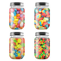 16 Ounce Clear Plastic Jars Containers With Screw On Lids - Refillable Round Empty Plastic Slime Storage Containers for Kitchen & Household Storage - BPA Free (20 Pack)