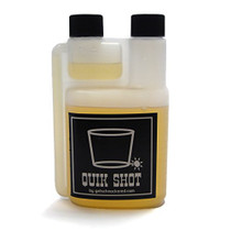 Quik Shot - 8 Ounce Plastic Flask with a Built-in 1/2 Ounce Shot Glass Chamber