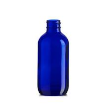 4 oz Cobalt BLUE Glass Bottle with 22-400 neck finish