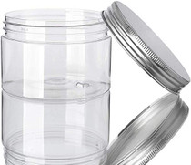 12 Pack Clear Plastic Jars Containers with Screw On Lids,Refillable Wide-Mouth Plastic Slime Storage Containers for Beauty Products,Kitchen & Household Storage - BPA Free (6.8 Ounce)