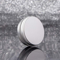 Screw Top Silver Aluminum Tin Jar with Screw Lid and Blank Labels - 23pcs, 2oz
