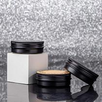 Screw Top Black Aluminum Tin Jar with Screw Lid and Blank Labels - 23pcs, 2oz