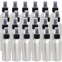 4 fl oz Aluminum Bottle with Black Spray Cap (24 Pack)