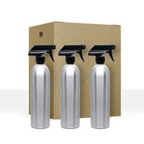 3 Pack Empty Aluminum Spray Bottles with Sprayers 20 oz.