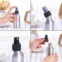 10 Pack 4oz/ 120ml Aluminum Fine Mist Spray Bottles Metal Fine Mist Refillable Atomizer Bottles for Travel Cosmetic Perfume Storage