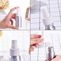 10 Pack 1-Ounce (30ml) Aluminum Fine Mist Spray Bottles Platinum Mini Metal Atomizer Bottles for Travel, Storage