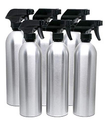 6 Pack Empty Aluminum Spray Bottles with Sprayers 20 oz.