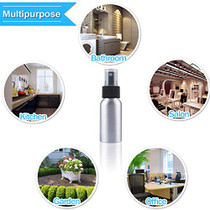 Spray Bottles Aluminum 50ml/1.69oz Travel Size Empty Mini Refillable Metal Spray Bottle Set with Lid for Liquids Skincare Cosmetic Perfume Storage with 4pcs Funnels(6 PACK)