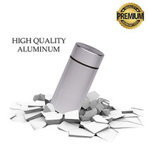Stash Jar  Airtight Smell Proof Jar Aluminum Storage Container. Waterproof Weed Accessories Durable Multi-Use Portable Weed Jar. Herb Tobacco Spices Container Screw-Top Lid Lock Odor  Silver (2)