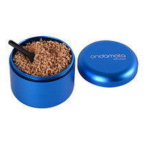 "Stash Jar Herb Storage Container in Sturdy, Air Tight Aluminum from ONDAMOTA. 2.1"" Wide, 1.8"" High Holds 12g Keeps Fresh, Locks in Aroma. Conveniently (Blueberry)"