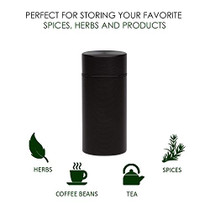 Stash Jar  Airtight Smell Proof Jar Aluminum Storage Container. Waterproof Weed Accessories Durable Multi-Use Portable Weed Jar. Herb Tobacco Spices Container Screw-Top Lid Lock Odor  Black (2)