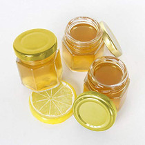 Jucoan 24 Pack Clear Hexagon Glass Jars, 3 oz Mini Canning Jars with Golden Lids for Honey, Jam, Spices, Party Favors, DIY Crafts