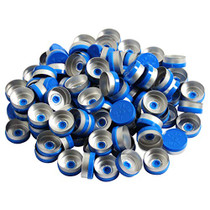 20mm Flip Off Caps-100 Pcs Aluminum-Plastic Blue Flip Off Caps for Glass Vial