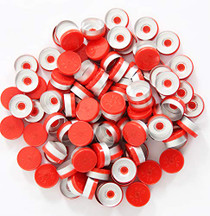 20mm Flip Off Caps-100 Pcs Aluminum-Plastic Red Flip Off Caps for Glass Vial