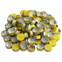 20mm Flip Off Caps-100 Pcs Aluminum-Plastic Yellow Flip Off Caps for Glass Vial
