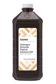 Amazon Brand - Solimo Hydrogen Peroxide Topical Solution USP, 32 Fl. Oz (Pack of 6)
