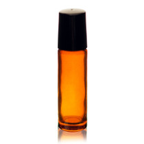 1/3 oz (10ml) Amber Glass Roll on Bottles -pack of 6