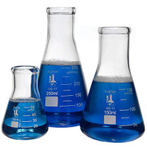 Glass Erlenmeyer Flask Set - 3 Sizes - 50, 150 and 250ml, Karter Scientific