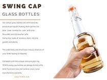 96-Pack 16 oz Kombucha/Beer Glass Bottles Clear Leak Proof - Non Slip Style
