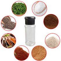 Set of 28 Pcs Empty Plastic Spice Bottles for Storing Barbecue Seasoning Salt Pepper,Shaker Bottles for Glitters,2.5 Fluid Ounces/75 ml (Black)