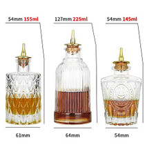Bitters Bottle Set of 6 - Glass Bitter Bottle, with Zinc Alloy Dash Top, Great Bottle for Your Bitters - DSBT4-2