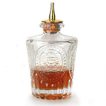 Bitters Bottle - Donatello Bitter Bottle for Cocktail, 4oz / 130ml, Glass Dahs Bottle with Gold Plated Dasher Top - DSBT0013 (4oz/130ml)