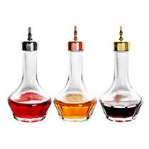 Bitters Bottle Set of 3- Glass Bitters Bottle with Dash Top, 1.7oz/50ml, Great for Bartender, Home Bar - KJP01 (3pcs)