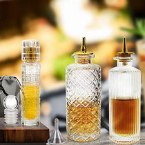 Bitters Bottle Set of 3 - Glass Bitters Bottle with Dash Top, Great for Cocktail, Bartender - BLPW0001