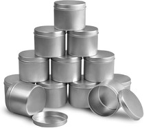 Candle Tin 8oz, Candle Containers for Candle Making, 12 Piece