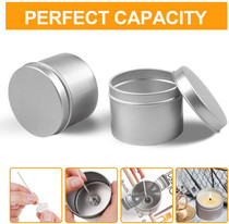 Candle Tin 18 Piece, 5 oz, Candle Containers for DIY Candle Making