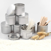 24 Pack Candle Tins 8oz Round Mental Tins for Candle Making, Arts Crafts, Storage