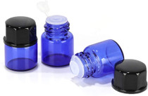 50 pack 1 ml 1/4 Dram Mini Blue Glass Essenti