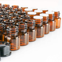 100 pack 2 ml 5/8 Dram Mini Amber Glass Dram Bottles Sample Bottles