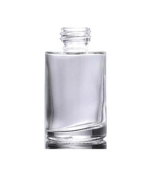 1 Oz Clear Cylinder Glass Bottle with 20-400 neck finish