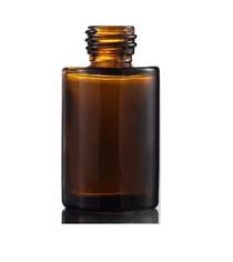 1 Oz Amber Cylinder Glass Bottle with 20-400 neck finish