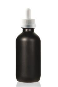 1 Oz Volcanic Black w/ White Child Resistant Glass Dropper