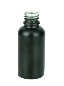 30ml Matte Black Euro Dropper Bottle with 18-DIN neck finish
