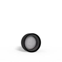 24-400 Black Ribbed Child-Resistant Plastic Cap with Foam Liner