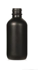 4 oz Matt Black Glass Bottle 22-400 Neck Finish